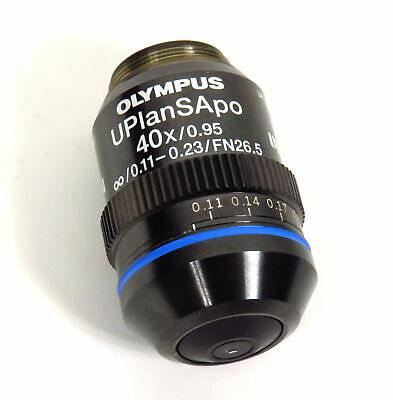 OLYMPUS UPLANSAPO 40x / 0.95  0.11-0.23 FN26.5 UIS 2 MICROSCOPE OBJECTIVE LENS