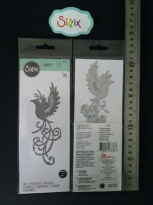 """Sizzix Thin Metal Die """"BIRD of PARADISE"""" 661740 New Cuttlebug Compatible"""