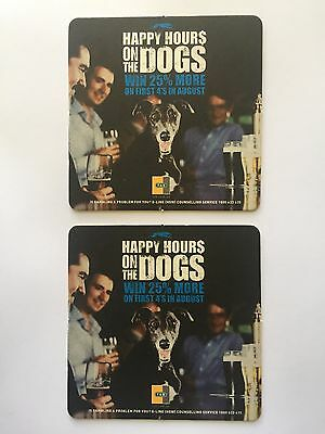 2 x TAB Happy Hours On The Dogs Collectable ManCave Bar Beer Rare Pub Brewery