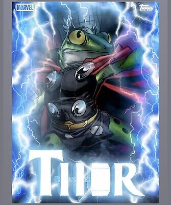 Topps Marvel Collect Card Trader Thorsday MOTION - Frog Thor Throg  Week 9