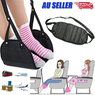 Travel Foot Rest Footrest Leg Pillow Airplane Flight Foam Cushion Sling Hammock
