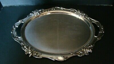 Antique 1904 Meriden Silver Plate Co. Tray With Repousse Daffodils