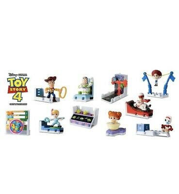 McDonalds TOY STORY 4 COMPLETE 10PC SET SEALED WITH BONUS MATERIAL stickers BOX