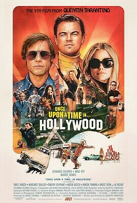 """Once Upon A Time... In Hollywood ORIGINAL D/S 27""""x40"""" Movie Poster Pitt DiCaprio"""