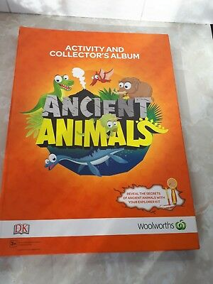 Ancient animals card and album set woolworths collecable