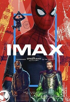 "Spider-Man: Far From Home ORIGINAL D/S 48"" x 70"" BUS SHELTER IMAX Movie Poster"