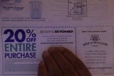 Bed Bath and beyond coupon 20% off ENTIRE PURCHASE ~~ Expires 9/24/19