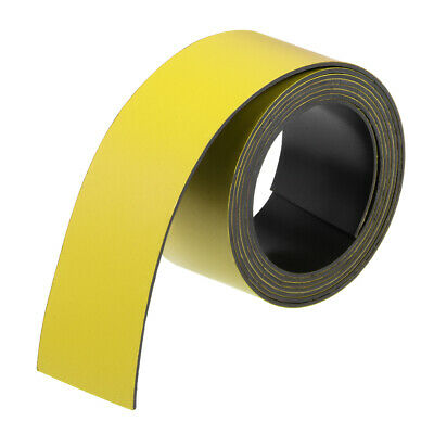 Dry Erase Flexible Magnetic Strip 1 Inch x 3.3 Feet Stickers Writable Yellow