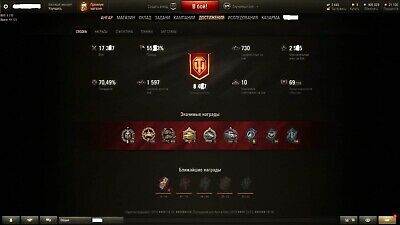 World Of Tanks Account(RU) Winrate 55%; Win8 1900; 17k;worthy acc for it's price