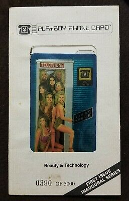 Playboy Phone Card, First Issue Inaugural Series #390 of 5000 Sealed