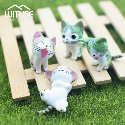 Micro Landscape Garden Cat Bonsai Decor Miniature Craft Kitten Statues Resin FE