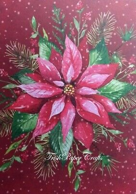 SAMPLE SET of 24xA6 Sheets ~ HUNKYDORY'S *NEW* THE LITTLE BOOK OF POINSETTIAS