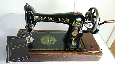 Semi-Industrial Singer 66K Handcrank Sewing Machine, FULLY SERVICED,sews LEATHER