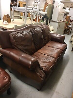 Leather Vintage Chesterfield Sofa,Large 3 Seater Leather Sofa,Kent Furniture