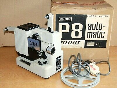 EUMIG P8 AUTOMATIC FILM PROJECTOR STANDARD 8 1960s - Great condition - Serviced