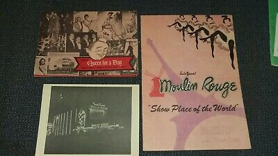 Moulin Rouge 1956 Miss California Queen For A Day & Menu paper collectable's