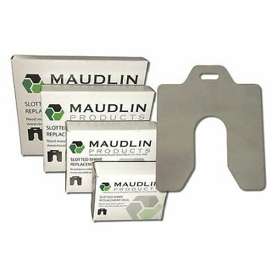 "MAUDLIN PRODUCTS MSE100 Slotted Shim E-6 x 6"" x 0.100"", Pk5"