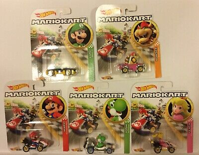 2019 Hot Wheels Nintendo Mario Kart 8 Deluxe Die Cast Car Luigi Peach Yoshi