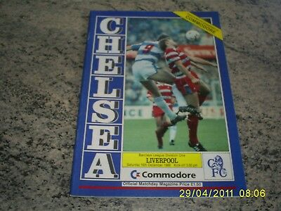 Chelsea V Liverpool Football Programme League Division 1 Game  1989