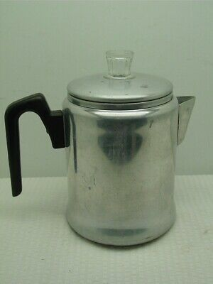 Vintage Century Aluminum Stove Top,Camping, Percolator Coffee Pot-7 Cup