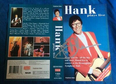 Hank Marvin 'Hank Play Live' Autogrpahed video cover jacket / THE SHADOWS