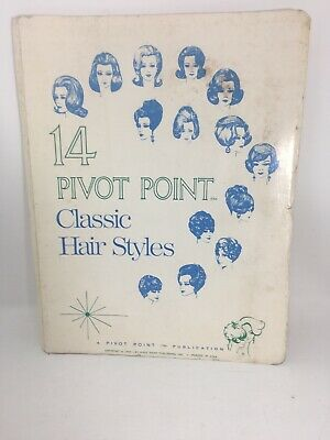 1969 Pivot Point Classic Hair Styles Book Beauty School Book Cosmetology Vintage