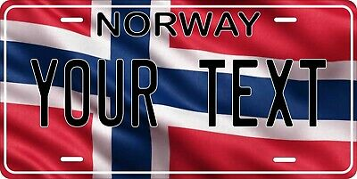 Norway Flag Wave License Plate Personalized Car Bike Motorcycle Custom Tag