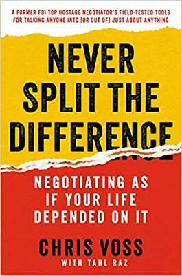 Never Split the Difference by Chris Voss HARDCOVER 2016