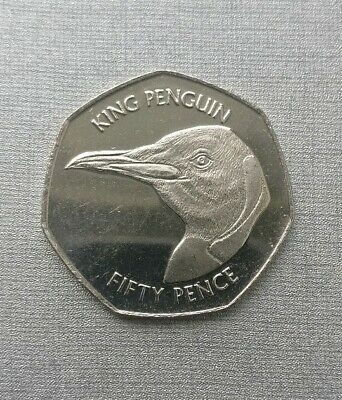 2018 Falkland Islands Unc 50p featuring The King Penguin
