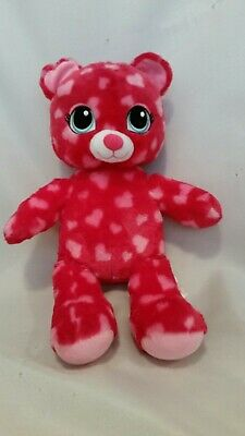 "BUILD A BEAR workshop Pink Love Heart Bear 17"" Soft Toy Teddy Plush VG Condition"