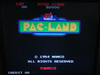 Pac-Land ORIGINAL NO JAMMA ARCADE PCB By NAMCO WITH EXTRA JAMMA CONNECTOR