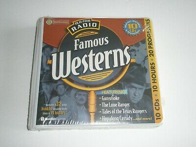 Old-Time Radio Famous Westerns 10 CD's 20 programs 2001