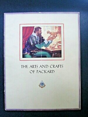 """""""THE ARTS AND CRAFTS OF PACKARD"""" 1928 Brochure ~ ORIGINAL"""
