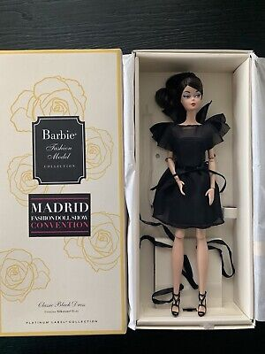 MFDS Madrid Barbie Convention Silkstone Doll Classic Black Dress Variation MIB