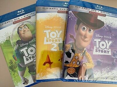 Disney's Toy Story Trilogy Blu-Ray DVD & Digital Lot 1 2 3