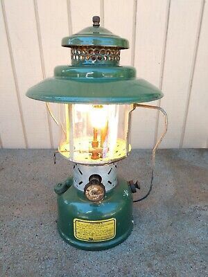 US Marked August 1945 Coleman 228E Dual Mantle White Gas Lantern WORKS