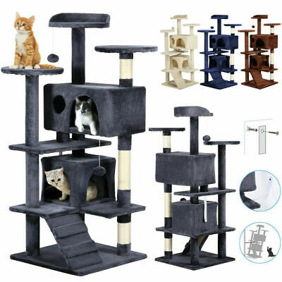 """4 Colors 51"""" Cat Tree Tower Condo Furniture Scratching Post Pet Kitty Play House"""