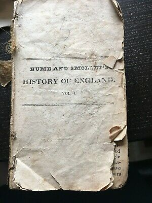 History of England Hume Smollett 1843 rare Exeter Volume 1 Missing cover