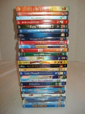 New Sealed Lot of 28 Disney Classics Children DVDs Movies Some Blu-Ray   DVD2