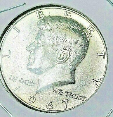 1967-P KENNEDY HALF DOLLAR 40% SILVER Nice Uncirculated FREE SHIPPING in Holder