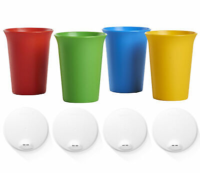 Tupperware Bell Tumbler Cups 4-piece set with Included Sipper Seals - NEW!