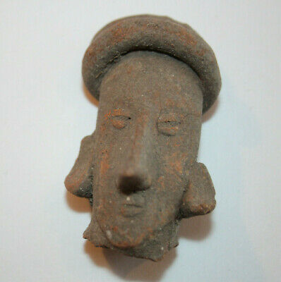 Pre Columbian Figural Head Jalisco or Colima Mexico 200-300 AD