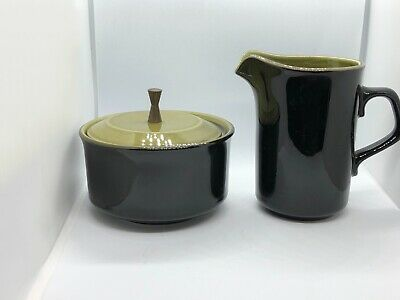 Mid Century Modern Creamer And Sugar Bowl With Lid