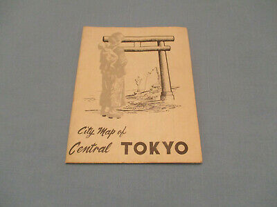 "1952 Map Of Central Tokyo, Japan 37 1/4"" Tall 28 1/2"" Wide Scale 1: 25,000 Color"