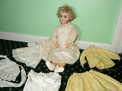 """Simon & Halbig SH 1079 DEP 9 Bisque & Composition Girl Doll with clothing 22"""""""