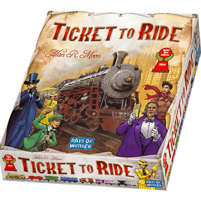Days of Wonder Ticket To Ride by Alan R. Moon Train Adventure Board Game NEW!!!