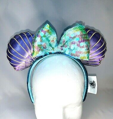 Disney Parks The Little Mermaid Princess Ariel Minnie Mouse Ears Headband