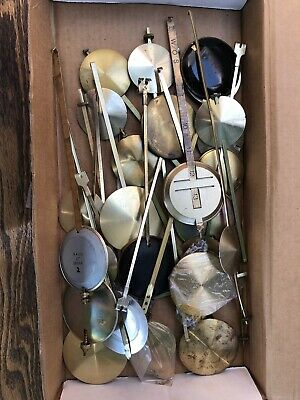 Assorted lot of Vintage Wall Clock Pendulums