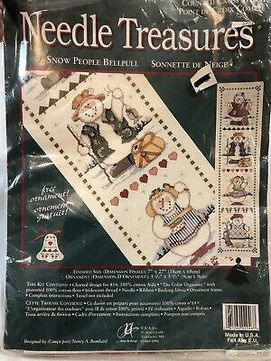 Needle Treasures Cross Stitch Kit Bell Pull Snow People #02946