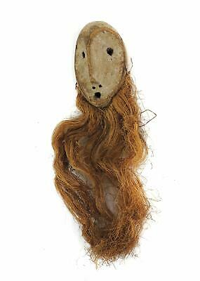 Lega Mask Bearded White Face Congo African Art SALE WAS $310.00